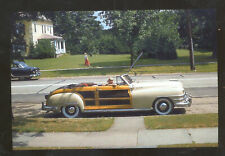 1948 CHRYSLER TOWN AND COUNTRY STATION WAGON WOODY POSTCARD COPY CARS