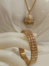 Wedding Engagement gift Bride Bridal Faberge egg NECKLACE & BRACELET Set 24ct