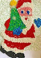 Vintage Christmas Santa Claus Pop Corn Melted Plastic Holiday Decoration