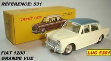 FIAT 1200 GRANDE VUE CREME/TOIT BLEU  #531 PAR DINKY TOYS / ATLAS