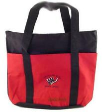Embroidered Canvas Bag Let's Go to the Movies Travel Shopping Tote Large Red Blk