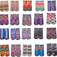 Hot Casual Men Women Cotton Low Cut Ankle Socks Cotton 3D Printed Fruit Food