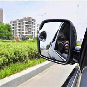 Rear View Blind Spot Mirror Frameless Convex HD Glass Wide Angle 360° Rotation R