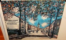 MAURICE UTRILLO VOITURES  VOLONTE CAMIONNAGE GRAYIER VACHERESSE COLOR LITHOGRAPH