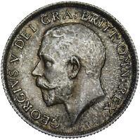 1916 SHILLING - GEORGE V BRITISH SILVER COIN - V NICE