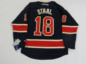 MARC STAAL SIGNED NEW YORK RANGERS HERITAGE JERSEY LICENSED PROOF JSA COA