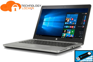 "HP EliteBook Folio 9470m 14"" Laptop i7-3687U 8GB RAM 256 SSD Win 10 w/ Cellular"