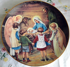 """'Away in a Manger' by Cicely Barker Beloved Hymns of Childhood (8.5"""" Plate 1988)"""