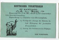 CHILE 1894 Stationery Santiago advertising Deutscher Turnverein