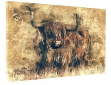 STUNNING HIGHLAND COW CANVAS PICTURE PRINT WALL ART BOX FRAME LARGE 1426-2