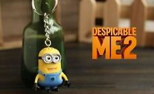 New Cute Despicable Me Minion PVC Figure KeyChain Key Ring Chain Gift 1 Pc