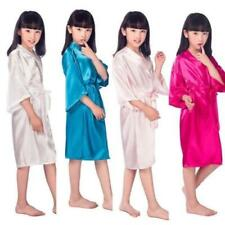Silk Kid Flower Girl Robe Kimono Bridesmaid Girls Robes Dress Children Bathrobe
