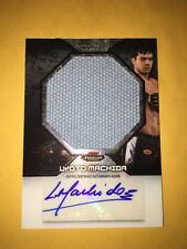 2013 UFC Finest Lyoto Machida Finest Fight Mat Jumbo Relic Autograph Card.