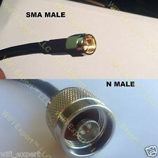 TIMES MICROWAVE® 200-300 Feet LMR400 RF Jumper Coax Cable SMA Male to N Male