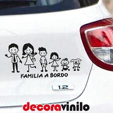 VINILO DECORATIVO PEGATINA FAMILIA A BORDO PERSONALIZABLE PERSONAJES TUNING T10a