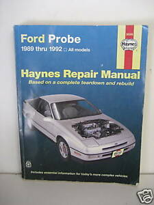 Ford Probe 1989 thru 1992 Haynes Repair Manual