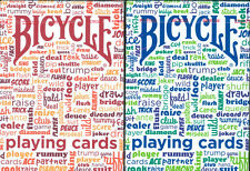 BICYCLE TABLE TALK PLAYING CARDS 2 DECK SET 1 BLUE & 1 RED