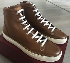 680$ Bally Hercules khaki Leather High Tops Sneakers size US 12