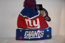 b331e7bee99 New York Giants Knit NFL LED Light Up Hat Winter Pom Beanie Stocking  Forever Cap