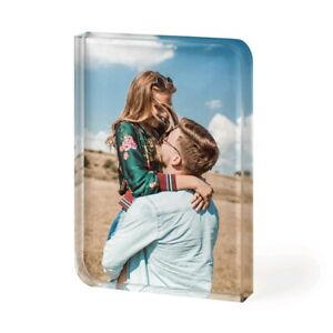 Rounded Personalised Photo Crystal Glass Block