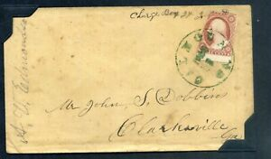 U.S. 1850s COVERS green and blue Calhoun Ga