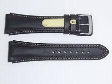 "Di-Modell (Germany) Genuine Calfskin 24 mm Dark Brown Leather Watch Band ""Pilot"""
