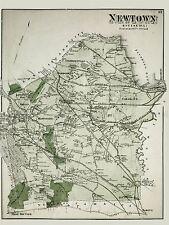 Mapa Antiguo 1873 cervezas Newtown Queens New York City réplica cartel impresión pam1920