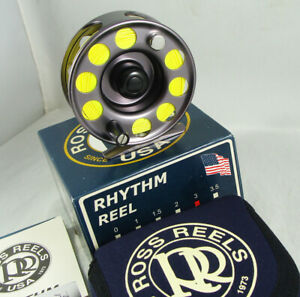 Excellent Condition ROSS REELS RHYTHM No. 3 Fly Reel + Box + Reel Case + Papers