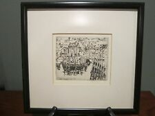 Rare Alfred Hutty Signed Etching #1; Charleston, Woodstock, Gloucester, Rockport