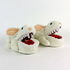 Monty Python Killer Rabbit Slippers - White Bunny Slippers With Pointy Teeth