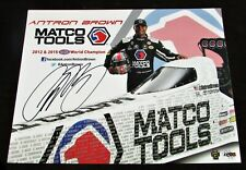 2016 Antron Brown Matco Tools Top Fuel NHRA Autographed HANDOUT/POSTCARD