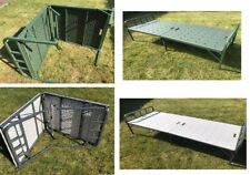 NEW ARMY FOLDING PORTABLE SINGLE BED GARDEN CAMPING INDOOR FURNITURE STEEL PIPE