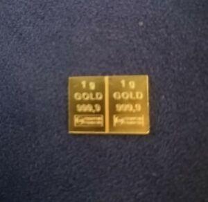 2g Gold aus  Combibar ESG 999,9   2x1g Feingold