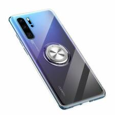 Clear Huawei P30 Pro Compatible Case Silicone TPU Cell With Rotating Ring Holder