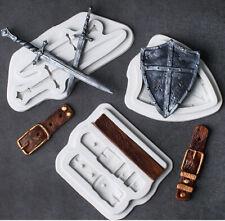 Swords Shield Belt Silicone Fondant Cake Sugarcraft Mould Chocolate Baking Mold