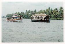 (82127) Postcard India Kerala Backwaters House Boat #14 - un-posted