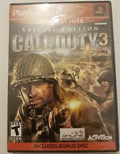 Call of Duty 3 Special Edition for Ps2 + bonus disc version NTSC U/C NEW+SEALED