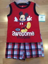 New listing Nwt 2 Piece Disney Outfit Shirt & Shorts Set Size 18 Months Mickey Mouse Resort