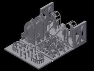 MJ 35015 1:35 3D resin print Halterungen für russische T 72 Panzer Basis set
