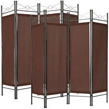 2x Biombos diseño 4panel tela divisor habitación separador separación marrón