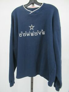 H0090 VTG Dallas Cowboy NFL-Football Pull-Over Sweater Size XL