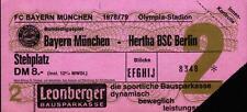 Ticket BL 78/79 FC Bayern München - Hertha BSC