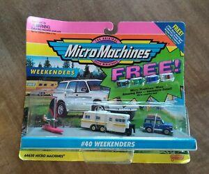 Rare #40 WEEKENDERS SET 1995 GALOOB MICRO MACHINES W/ 4 MICRO MINI CARS UNOPENED