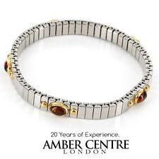 """NOMINATION ITALIAN """"LUCKY"""" BRACELET BALTIC AMBER in 18ct GOLD BAN134 RRP£295!!!"""