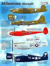 Iliad Decals 1/72 MILESTONE AIRCRAFT B-17 B-24 P-38 P-47 & F6F