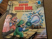 Super Mario bros Golden Book Trapped in the perilous pit 1989 rare nintendo