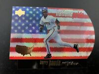 BARRY BONDS 1998 UPPER DECK NATIONAL PRIDE #NP-34 DIE-CUT RAINBOW FOIL REFRACTOR