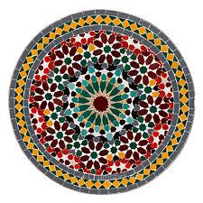 Marroquí Mosaico Mesa de Restaurante Redondo De Piedras de Mosaico Mirage D60cm