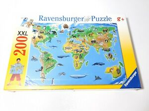 200 Pieces XXL Puzzle - World Map - Ravensburger - New/Boxed