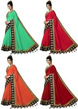 Indian pakistani new Latest Fashion Designer Party wear & Bollywood Satin Sarees